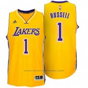 Maglia Los Angeles Lakers D'Angelo Russell #1 Giallo