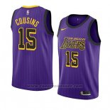 Maglia Los Angeles Lakers Demarcus Cousins #15 Citta 2019-20 Viola