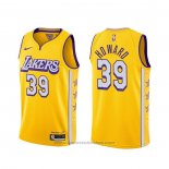 Maglia Los Angeles Lakers Dwight Howard #39 Citta 2019-20 Giallo