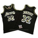 Maglia Los Angeles Lakers Magic Johnson #32 Camuffamento Nero