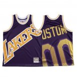 Maglia Los Angeles Lakers Personalizzate Mitchell & Ness Big Face Viola