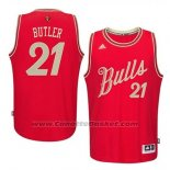 Maglia Natale 2015 Chicago Bulls Jimmy Butler #21 Rosso