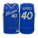 Maglia Natale 2015 Golden State Warriors Harrison Barnes #40 Blu