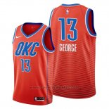 Maglia Oklahoma City Thunder Paul George #13 Statement Arancione