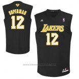 Maglia Soprannome Los Angeles Lakers Superman #12 Nero