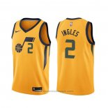 Maglia Utah Jazz Joe Ingles #2 Statement Giallo