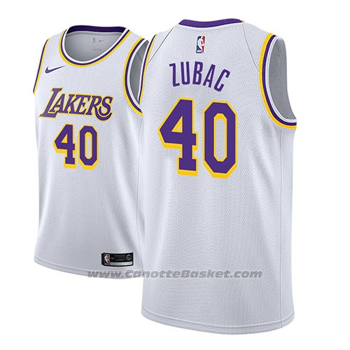 Maglia Los Angeles Lakers Ivica Zubac #40 Association 2018-19 Bianco